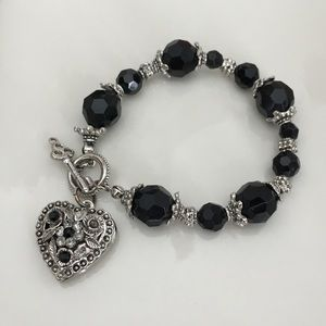 Jewelry - 5 for $25-Silver and Black Crystal Bracelet